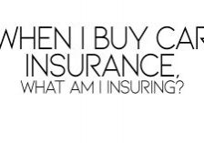 WHEN I BUY CAR INSURANCE, WHAT AM I INSURING_